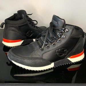 🏍 Harley Davidson Leather High Top Shoes / Boots